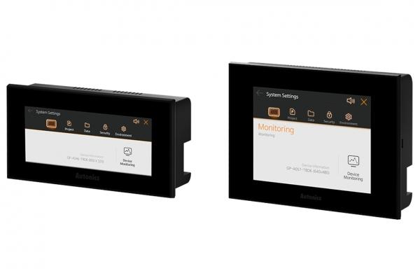 오토닉스 Color LCD 그래픽 패널 GP-A 시리즈. 왼쪽부터 4.5인치 및 5.7인치 [사진=오토닉스]