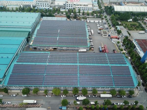 전남 함평군 해리 1, 2호 태양광발전소 [사진=삼환]